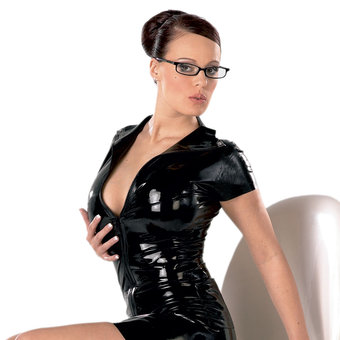 Late X Collection Latex Zip Top