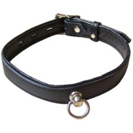 Bondage Boutique Leather Collar with O-Ring