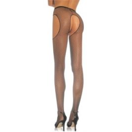 Leg Avenue Plus Size Crotchless Fishnet Garter Pantyhose