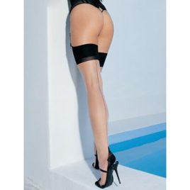 Leg Avenue Plus Size Cuban Heel and Backseam Stockings
