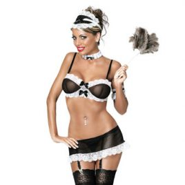 Exposed Sexy French Maid 5 Piece Set