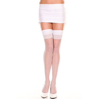 Music Legs Thigh High Suspender Stockings
