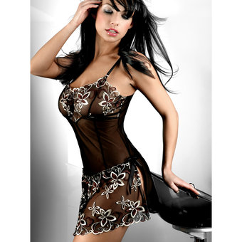 Livia Corsetti Hera Sheer Chemise and Matching G-String