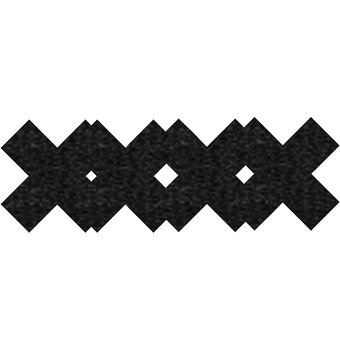 Peekaboo Premium Cross Pattern Nipple Pasties