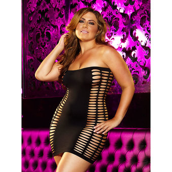Lapdance Naughty Girl Plus Size Sexy Mini Dress