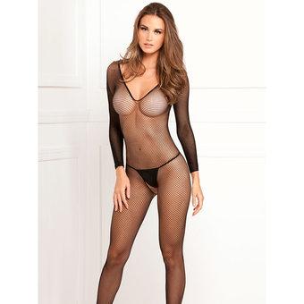 Rene Rofe Long Sleeve Fishnet Bodystocking