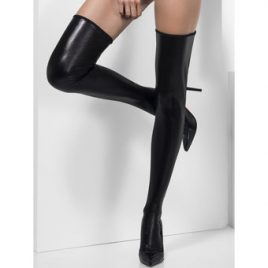 Fever Hold Up Wet Look Stockings