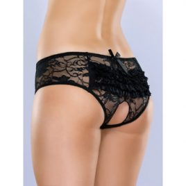 Lovehoney Crotchless Lace Ruffle Back Panties