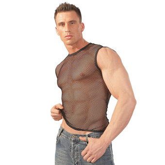 Svenjoyment Fishnet Vest Top for Men