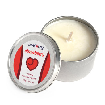 Lovehoney Strawberry Flavor Lickable Massage Candle 60g
