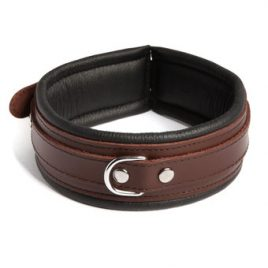 DOMINIX Deluxe BRAUN Leather Collar