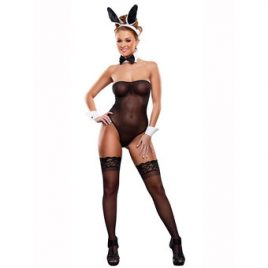Exposed Sheer Bedtime Bunny Costume Set