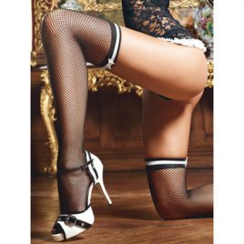 Baci Lingerie French Maid Fishnet Thigh High Stockings