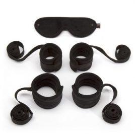 Bondage Boutique Soft Bedroom Restraint Kit (5 Piece)