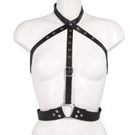 DOMINIX Deluxe Studded Leather Chest Harness