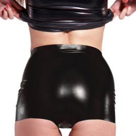Rubber Girl Latex Wear High Waisted Panties
