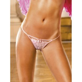 Baci Lingerie Lace G-String with Bow