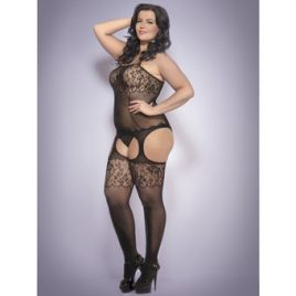 Lovehoney Plus Size Fishnet and Lace Bodystocking