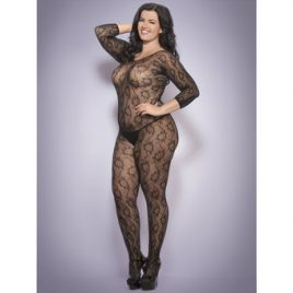 Lovehoney Plus Size Floral Lace Crotchless Bodystocking