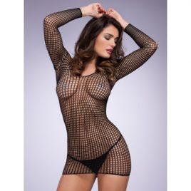 Lovehoney Long Sleeve Crochet Mini Dress