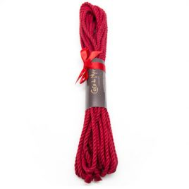 Coco de Mer Linen Bondage Rope Red 12 Meter