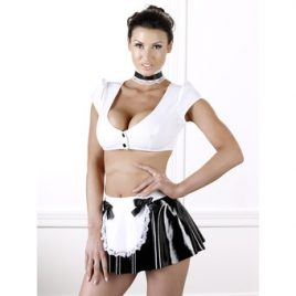 Black Level Sexy PVC French Maid Outfit