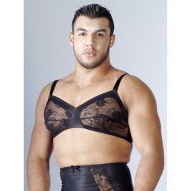 Svenjoyment Black Lace Bra for Men