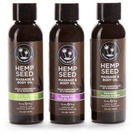 Earthly Body Hemp Seed Massage Oil Gift Set (3 x 1 fl. oz)