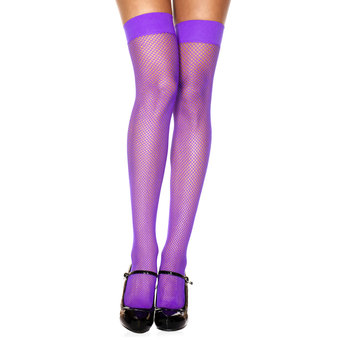 Music Legs Purple Fishnet Stockings