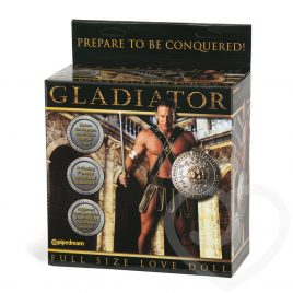 Gladiator Inflatable Male Sex Doll with 7 Inch Realistic Dildo 985g