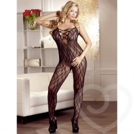 Mandy Mystery Plus Size Lace Crotchless Bodystocking