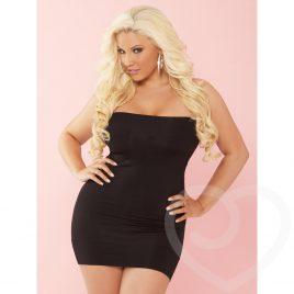 Pink Lipstick Plus Size Black Bandeau Dress