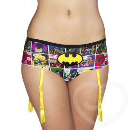 DC Comics Batman Comic Strip Suspender Shorts