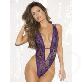 Shirley of Hollywood Deep Plunge Lace Teddy