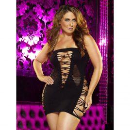Lapdance Backroom Plus Size Cut Out Mini Dress