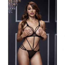 Baci Lingerie Open Cup Strappy Teddy