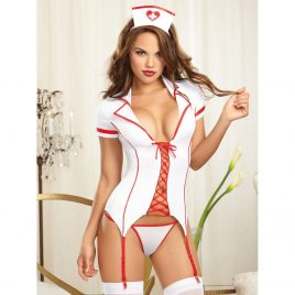 Dreamgirl Lace Up Sexy Nurse Complete Set