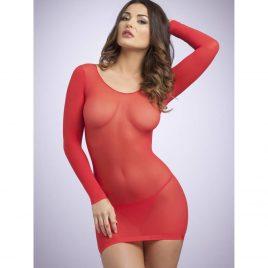 Lovehoney Long Sleeve Red Mini Dress