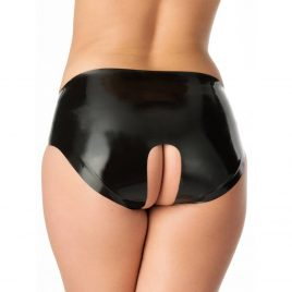 Rubber Girl Latex Crotchless Knickers