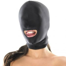 Fetish Fantasy Spandex Open Mouth Bondage Hood