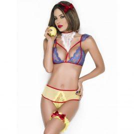 Poisoned Apple Princess Costume Bralette and Panties Set