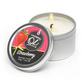 Lovehoney Oh! Strawberry Lickable Massage Candle 2.1oz
