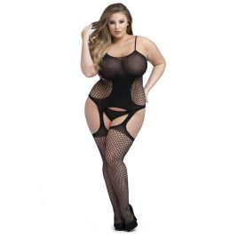 Lovehoney Plus Size Hourglass Garter Bodystocking