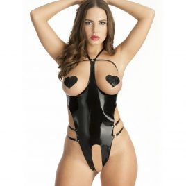Easy-On Latex Open Cup Crotchless Body
