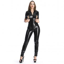Easy-On Latex Catsuit with Bust Zips