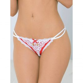 Escante Crotchless Jingle Bells Christmas Briefs
