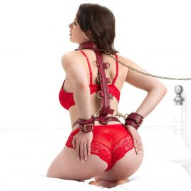 Bondage Boutique Faux Snakeskin Restraint Harness