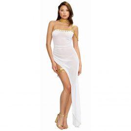 Dreamgirl White and Gold Goddess Costume