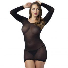 Lovehoney Long Sleeve Black Mini Dress