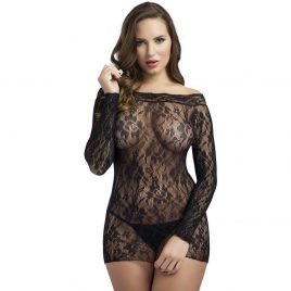 Lovehoney Off the Shoulder Lace Mini Dress